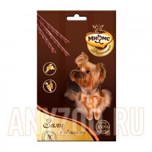 Купить Мнямс Деликатес лакомые палочки для собак с зайцем и овощами