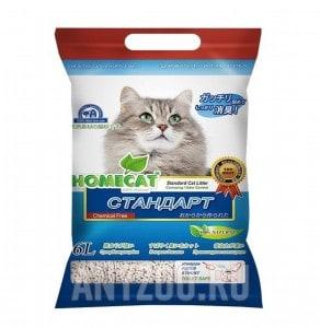 фото Home Cat Эколайн Стандарт Комкующийся наполнитель для кошачьего туалета