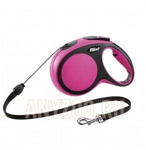 фото Flexi New Comfort рулетка для собак, размер M, 8м*20кг, трос