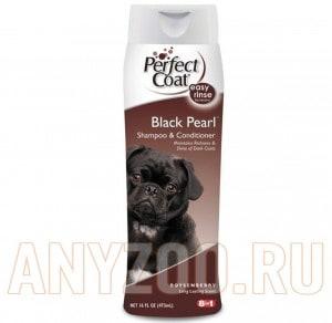 Купить 8 in 1 Shampoo Black Pearl шампунь-кондиционер для собак с темной шерстью