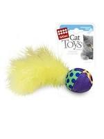 фото GiGwi 75277 Игрушка для кошек Мячик с перьями