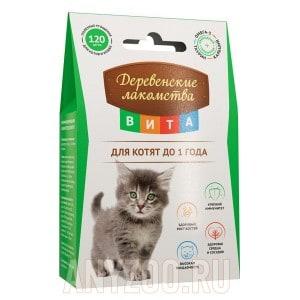 Деревенские лакомства Вита лакомство для котят до 1 года