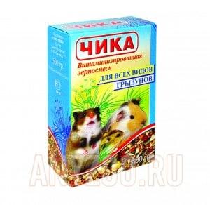 фото Чика Полноценная витаминизированная зерносмесь  для всех видов грызунов