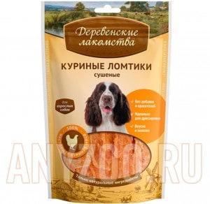 Деревенские лакомства Традиционные для собак 100% Куриные ломтики сушеные