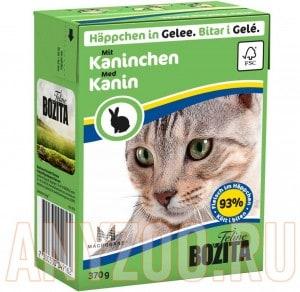 Купить Bozita Tetra Recart Бозита Тетра Рекарт кон.для кошек Кусочки в желе Кролик